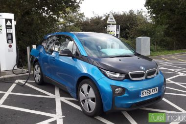 Charging at Sedgemoor Services on the M5 (Image: T. Larkum)