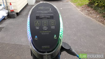 The POD Point charge points at Devon Cliffs (Image: T. Larkum)