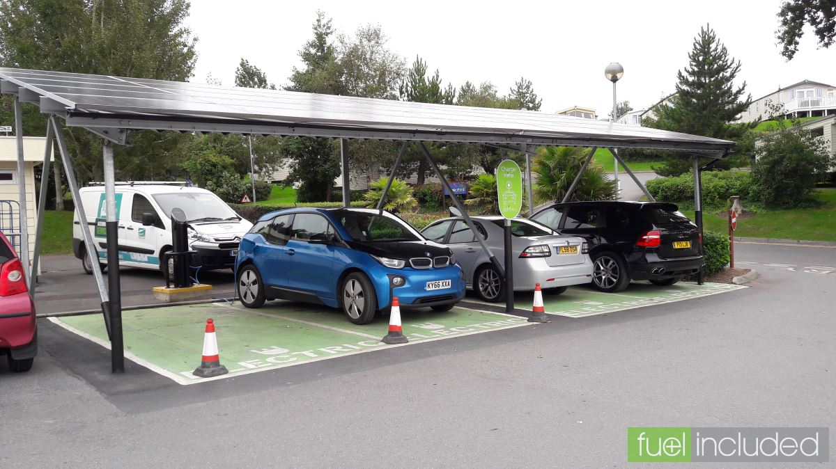 The Solar Charge Points At Devon Cliffs And Only 2 3 Of Cars
