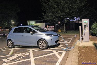My Renault ZOE charging at an Ecotricity 22kW medium-fast charger (Image: T. Larkum)