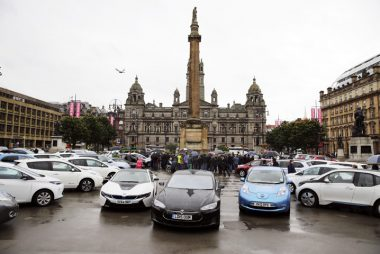 Scotland hosts first electric car rally - Stirling to Glasgow