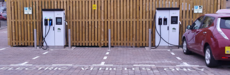 eVolt Rapid Chargers installed in Aimer Square, Dundee (Image: eVolt)