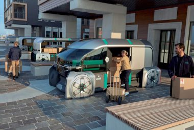 Renault EZ-PRO: Urban delivery goes robo (Image: J. Oppenheim/Renault)
