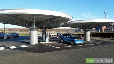 Milton Keynes 'Mushrooms' Charging Hub (Image: T. Larkum)