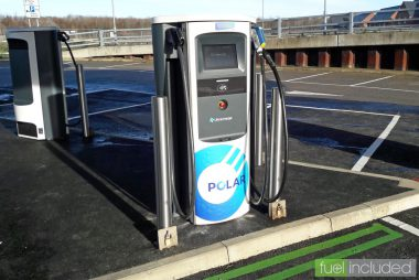 BP Chargemaster Rapid Charger at Milton Keynes Charging Hub (Image: T. Larkum)