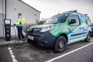 Scottish Water Renault Kangoo electric van (Image: Renault)