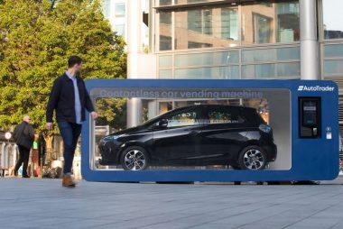 Renault ZOE in contactless car vending machine (Image: Taylor Herring)