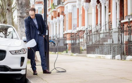 Ubitricity Electric Avenue project lamppost charging (Image: Siemens)