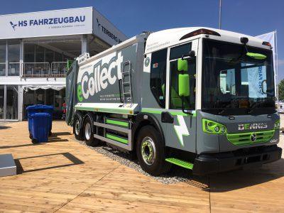 Dennis Eagle eConnect electric refuse vehicle (Image: Dennis/Twitter)