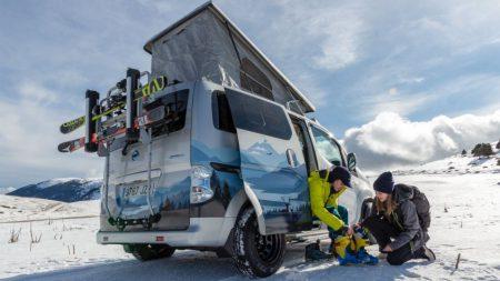 Nissan e-NV200 Winter Camper Concept (Image: Nissan)
